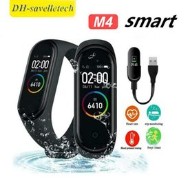 $enCountryForm.capitalKeyWord Australia - M4 Smart Bracelet Fitness Tracker Heart Rate Watch Wristband Blood Pressure for iPhone Android Cellphones PK fitbit XIAOMI MI BAND 3 in Box