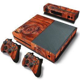 Sticker for xbox one online shopping - Fanstore Skin Sticker Vinyl Decal Protective for Xbox One Console Kinect Controllers Wooden Design