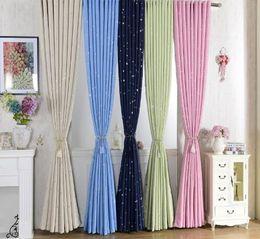 $enCountryForm.capitalKeyWord NZ - Shiny Stars Children Cloth Curtain For Kids Boy Girl Bedroom Living Room Blue Pink Blackout Cortinas Custom Made Drapes