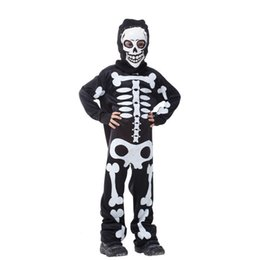 Costumes For Masquerade UK - costume boys Cosplay Costume Boy Masquerade halloween costumes for kids Skull Skeleton Ghost Clothes Screaming child
