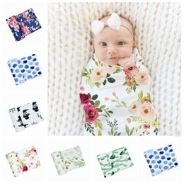 spring patchwork bedding Australia - Newborn Baby Blankets Cactus Infants Floral Milestone Blanket Mat Photography Prop Fashion Monthly Leaf Bedding Swaddle Wrap 6 Colors LT1013