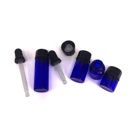 CosmetiCs dropper online shopping - Black Rubber Glass Teat Dropper with small blue glass bottle essential oil roll on small bottle ml ml ml ml for cosmetic Wax