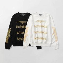 $enCountryForm.capitalKeyWord NZ - Boy London Designer Hoodies Jacket Mens High Quality Hip Hop Sweatshirts Men Women Gold Letter Print Pullover Size S-2XL