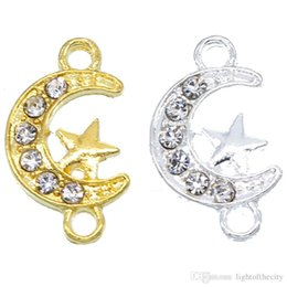 Supply Connectors Australia - 50pcs Supplies For Jewelry Silver Muslim Crescent Moon Charm Connector Accessories For Islamic Jewelry DIY Making 12*20*2mm wholesale