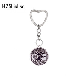woman talisman pendant NZ - 2019 New Arrivals Tree of Life Stainless Steel Norse Viking Knot Amulet Pendant Hand Craft Nordic Talisman Key Chain