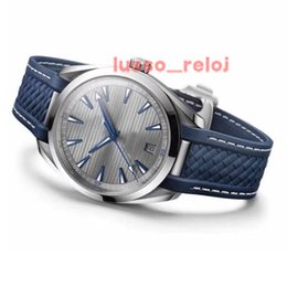 relojes movement watch NZ - 41MM Luxury watch master mens Aqua Terra high quality SEA co-axial Watches 2813 Automatic Movement relojes rubber band 9O4L menss wristwatch