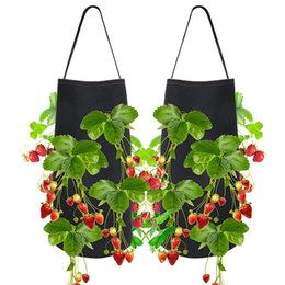 Wholesale Hanging Strawberry Garden Planter Bed for Strawberry Flower Vegetable Bare Root Plants Felt Material Planting Grow Bag