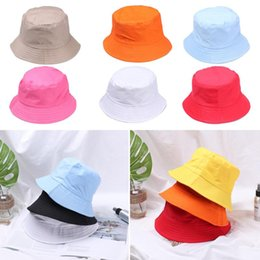 Discount orange hunting hats New Unisex Summer Bucket Hat Foldable Fisherman Hat Women Cotton Fishing Hunting Cap Basin Chapeau Sun Prevent Outdoor S