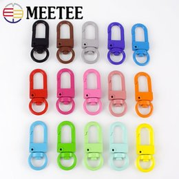 metal hooks for handbags Australia - Meetee 34*13mm Metal Spring Swivel Buckles For Handbag Key Chain Snap Clip Hook DIY Craft Luggage Accessories