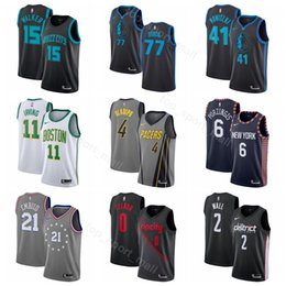 2019 Basketball Jerseys City Edition Damian 0 Lillard Victor 4 Oladipo  Kristaps 6 Porzingis Kemba 15 Walker Dirk 41 Nowitzki Luka 77 Doncic 5a86fc859