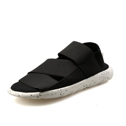 $enCountryForm.capitalKeyWord UK - Y3 Sandals Men and Female Couple Beach Slippers Fashion Elastic Fabric Student Casual Shoes pria g-dragon bayan ayakkabi smith #143119