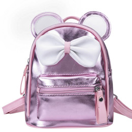 $enCountryForm.capitalKeyWord Australia - New Bows Cartoon girls bags Mini Girls Backpacks kids School Bags Childrens Bags Leather Bag cute Backpacks designer kids bag A6339