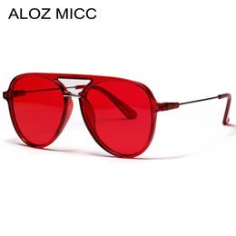 6f7a4f62b ALOZ MICC 2019 Novas Mulheres Vermelhas Marca Pilot Óculos De Sol para  Homens Moda Cor Big Frame óculos de sol Acetic Feminino Shades Oculos A649