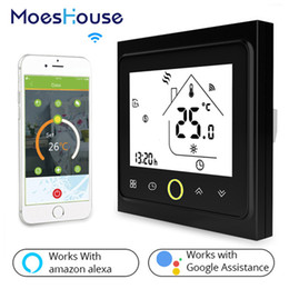 Water Temperature Lcd Australia - WiFi Thermostat Temperature Controller LCD Touch Screen Backlight for Water floor Heating Works with Alexa Google Home 3A