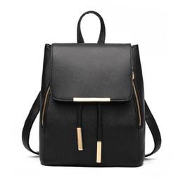 Pu Leather Book Bag Australia - New Arrival School Backpack For Women Pu Leather Shoulder Bag Female Student Book Bag Casual Travel Knapsack Girls Rucksack