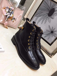 $enCountryForm.capitalKeyWord NZ - Cheap Woman Autumn Winter All Leather Round Toe High Top Martin Boots Femal Daily Lifestyle Retro Flat Short Boots Woman Lace Up Boots