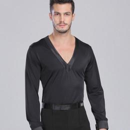 Samba Clothes Canada - Latin Dance Shirt Boys Samba Dance Costumes Tango Samba Costume Dance Clothes Latin Shirts D0965 V Neck
