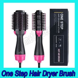 multi tourmaline NZ - .Hot Air Brush One Step 2-in-1 Hair Dryer & Styler & Volumizer Multi-functional Straightening & Curly Hair Brush with Negative Ions