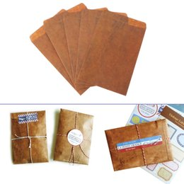 $enCountryForm.capitalKeyWord Australia - 5 pcs lot Creative European Style Vintage Kraft Paper Envelope For Postcard Novelty Item Kids Gift Stationery