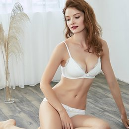 $enCountryForm.capitalKeyWord NZ - Bralette Lace Sexy Bra Set Push Up Underwear Lace Thin-Strap Bra & Brief Sets Wire free Breathable Comfortable Lingerie