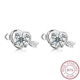 $enCountryForm.capitalKeyWord Australia - One Arrow Wear Heart 925 Sterling Silver Women Earrings designer jewelry classic Natural gem masonic DIY Earring men lady charm Gift