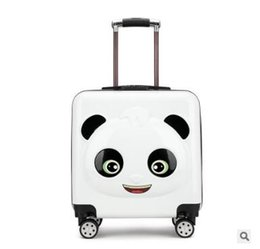 f484ddc95 Panda Kid Travel luggage suitcase Trolley bags on wheels Kid wheeled carry  on baggage Spinner Children Rolling suitcase for Boy