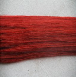 Hair Weave Tips Australia - Bright Red Color Loop Micro Ring Beads Tipped 100% Real Remy Human Hair Weave 10-30 Inchs Straight Hair Extensions