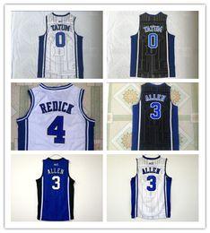 72124e05ee2 NCAA Duke Jersey Blue White Devils 0 Jayson Tatum 3 Grayson Allen 4 JJ  Reddick College Basketball Sports Jersey embroidered Stitched logos