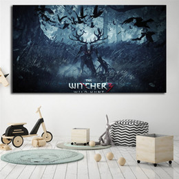 $enCountryForm.capitalKeyWord Australia - The Witcher 3 Wild Hunt The Ghost In The Tree Poster Painting On Canvas Bedroom Wall Art Decoration Pictures Home Decor