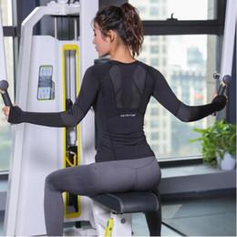 Black Mesh Shirt Womens NZ - New Blue Black Rose Summer Tops Women Fitness T Shirt Woman Long Sleeve Yoga Top Mesh Womens Gym Tops Sport Wear Female