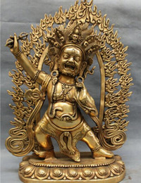 "$enCountryForm.capitalKeyWord Australia - Copper Brass CHINESE crafts decor ation Asian voge S4555 19 "" Tibet bronze budismo Joss Vajrapani Mahakala de buda escultura"