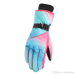 Winter Soccer Gloves NZ - 6 Styles Waterproof Winter Snowboard Gloves  Women s Outdoors Ski Gift Gloves 0d589d41af