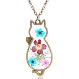 $enCountryForm.capitalKeyWord Australia - Natural Dried Flower Necklace Female Jewelry Wild Fashion Cat Styling Pendant Sen Small Fresh Gift
