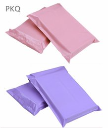$enCountryForm.capitalKeyWord Australia - 100pcs lot Pink&Purple Express Bags Poly Mailer Mailing Bags Large Envelope Self Adhesive Seal Plastic shipping