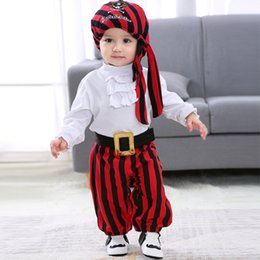 $enCountryForm.capitalKeyWord Australia - Cross-border for INS explosive children's clothes spring and autumn new Halloween pirate captain's one-piece Harvard suit 4 sets