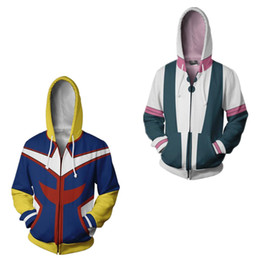 super-héros t-shirts achat en gros de-news_sitemap_home2020 Japan Anime D Street My Hero Academia Superhero Might OCHACO URARAKA Tous Casual Sweatshirt à capuche de base ball Sweat shirts de veste manteau