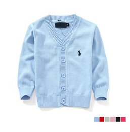 Children Sweaters High Quality 2019 Autumn Boys Girls Child 100% Cotton knit cardigans For 1-6 Ages Kids Baby Cardigan Sweaters 7 Color on Sale