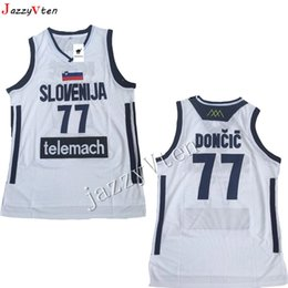 ec240151c hot sell Embroidery Mens  7 Doncic Jersey Throwback Basketball Jersey  slovenija Team Retro Stitched Shirts Europe 77 College Luka JERSEY