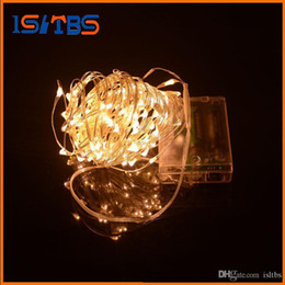 outdoor battery fairy lights Australia - AA Battery Power Operated LED Copper Silver Wire Fairy Lights String 50Leds 5M Christmas Xmas Home Party Decoration Seed Lamp Outdoor