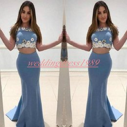$enCountryForm.capitalKeyWord Australia - Perfect Flower Mermaid Prom Dresses Two Pieces Sexy Robe De Soire Evening Dresses Plus Size Custom Black Girl Party African Formal Gowns