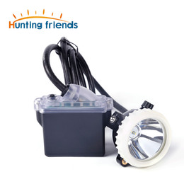 miners headlamps UK - Huntinhg Friends Mining Headlight 1+2 LED Miner Lamp 18650 Battery Mining lamp Waterproof Headlight Explosion Proof Cap Miner Lamp