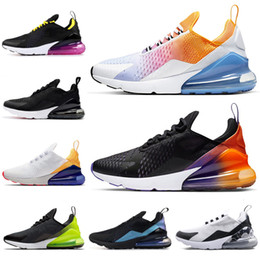 rainbow running shoes Australia - 2019 FLORAL Running Shoes for Women Men Shoes SE Triple Black White RAINBOW HEEL Volt Orange Mens Trainer Sport Sneakers 36-45