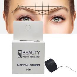 Ingrosso Mappatura stringa di pre-ink per Microblading eyebow compongono tintura Liners discussione Semi di posizionamento permanente sopracciglia strumento di misurazione
