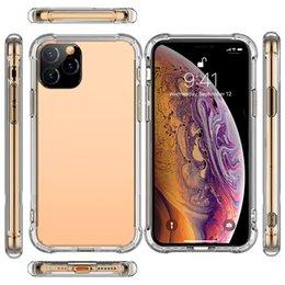 Großhandel 2019 NEU Für iPhone 11 Handyoberteil Anti-Fall TPU eingestellt Für iPhone XI MAX Transparente XE Schutzhülle Hohe Qualität