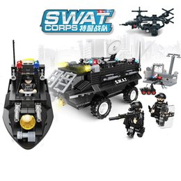 $enCountryForm.capitalKeyWord Australia - 516pcs Children's Building Blocks Toy Compatible City Special Police Team Explosion-proof Bomb Smashing Patrol Boat J190720