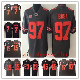 1202a053a NCAA Mens Ohio State Buckeyes College jerseys 45 Archie Griffin 7 Dwayne  Haskins Jr. 15 Ezekiel Elliott 97 Joey Bosa Football men Jerseys