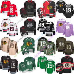 55804e5c7 Jonathan Toews Jersey Men Women Youth Kid Chicago Blackhawks 2019 Winter  Classic Green Salute to Service Pink Purple Fights Cancer Home Away