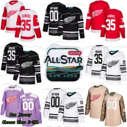 35 Jimmy Howard 2019 All Star Detroit Red Wings Anthony Mantha Andreas  Athanasiou Dylan Larkin Justin Abdelkader Martin Frk Digital 6 Jersey 1a6373f30