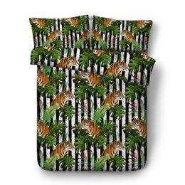 $enCountryForm.capitalKeyWord UK - Striped Tiger Print Boys Bedding Sets 3PC No Comforter Duvet Cover Set Digital 3D Print 3PCS 1 Duvet Cover 2 Pillow Shams Vivid Animals