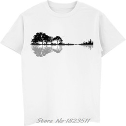 $enCountryForm.capitalKeyWord Australia - Novelty Nature Guitar T Shirt Men Women Fashion Summer Style Instrument Tree Silhouette Ukulele Guitar Shape Tshirt Tops